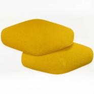 Nakomolčniki, semiš, 2 kom, 00391-999, rumena
