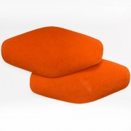 Elbow patches, chamois, 2 pcs, 00391-666, orange