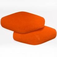 Polster, Kunstleder, 2 Stück, 000391-666, orange