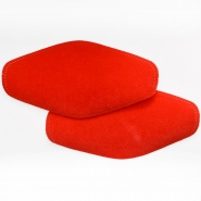 Elbow patches, chamois, 2 pcs, 00391-55, red