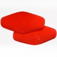 Polster, Kunstleder, 2 Stück, 000391-55, rot