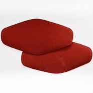 Elbow patches, chamois, 2 pcs, 00471-266, red - Bema Fabrics