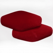 Elbow patches, chamois, 2 pcs, 00391-265, red