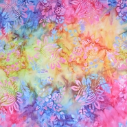 Cotton, poplin, batik, floral, 15657-51