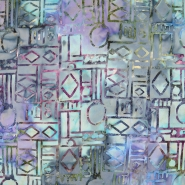 Bombaž, poplin, batik, abstraktni, 15658-17