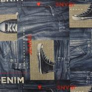 Deko, tisk, jeans, 15661-380