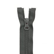 Zipper, divisible 60 cm, 6 mm, 2051-850A, dark grey