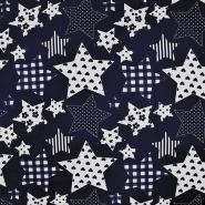 Bombaž, poplin, zvezde, 15671-008