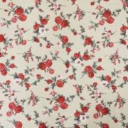 Dekostoff, Druck, floral, 15704-8