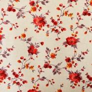 Deko, tisk, cvetlični, 15708-10