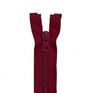 Zipper, divisible 50 cm, 6 mm, 2050-384A, burgundy red