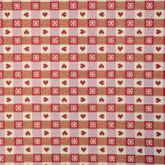 Deko žakard, srca, 15766-29