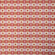 Deko žakard, srčki, 15766-29