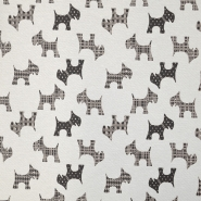 Deco jacquard, animals, dog, 15771-70, grey