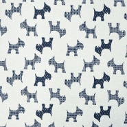 Deco jacquard, animals, dog, 15771-48, blue