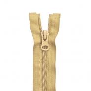 Reißverschluss, teilbar, 60cm, 6mm, 2051-709, beige