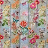 Deko, tisk, digital, cvetlični, 15808-01