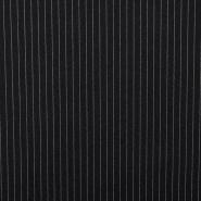 Wool, for suits, stripes, 15833-24, black white