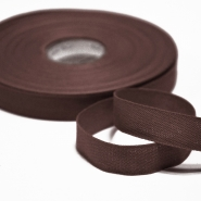 Cotton ribbon, 15mm, 15455-6102, brown