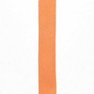 Cotton ribbon, 15mm, 15455-6037, orange