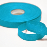 Cotton ribbon, 15mm, 15455-6155, turquoise