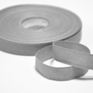 Cotton ribbon, 15mm, 15455-6132, grey