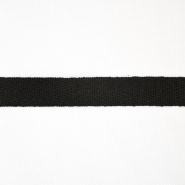 Cotton ribbon, twill, 15 mm, 15835-2, black