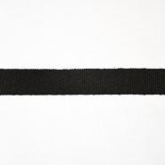 Traka, keper, pamuk, 15 mm, 15835-2, crna