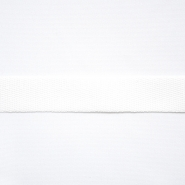 Cotton ribbon, twill, 20mm, 15837-1, white