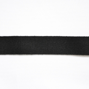 Cotton ribbon, twill, 20mm, 15837-2, black