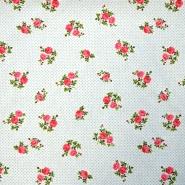 Cotton, poplin, floral, 15914-4