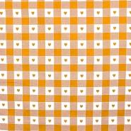 Dekostoff, Druck, 280cm, Karo und Herzen, 14185-27, gelb