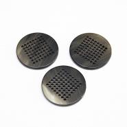 Gumb, ukrasni, smeđa, 34 mm, 15952-0203