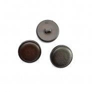 Button, for suits, bomblet brown, 20mm, 15952-0006