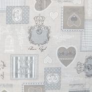 Bombaž, tisk, romantičen, 14185-50