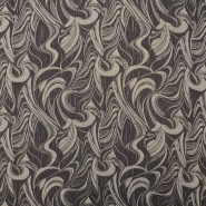 Jacquard, abstract, 11152, brown