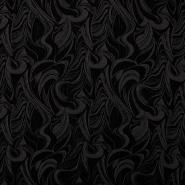 Žakard, abstrakten, 11153, rjavo črna