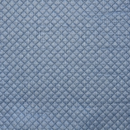 Quilted lining, knit, print, 15990-007, blue