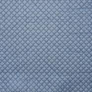 Preštepanka, pletivo tisk, 15990-007, modra