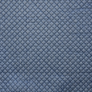 Quilted lining, knit, print, 15990-008, blue