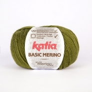Wool,  Basic merino, 15041-17, green