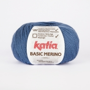 Wool,  Basic merino, 15041-33, blue