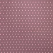 Jersey, bombaž, zvezde, 16151-112, roza