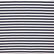 Jersey, cotton, stripes, 16153-008, blue