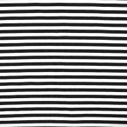 Jersey, Baumwolle, Streifen, 16153-069, schwarz - Bema Stoffe