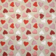 Deco, print, hearts, 16156-01