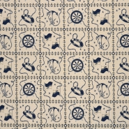 Deko žakard, morski, 16166-03