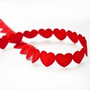 Traka, srca, 16179-11301, crvena