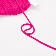 Cord, cotton, 4mm, 16189-10477, fuschia