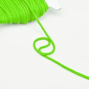 Cord, cotton, 4mm, 16189-10474, green